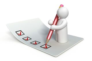 Check-list_ little white man with red pen