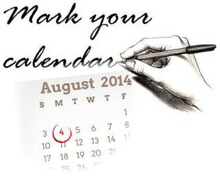 Mark your calendar_august4th
