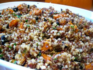 Quinoa+Stuffing+with+Sweet+Potatoes+and+Cranberries