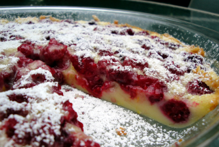 Raspberry Clafoutis Torta Whole
