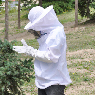 Protective-Bee-Keeping-Jacket-Veil-Suit-Smock
