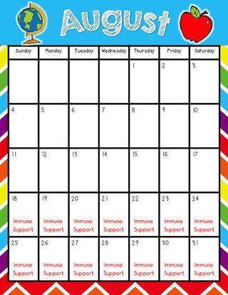 Aug Calendar